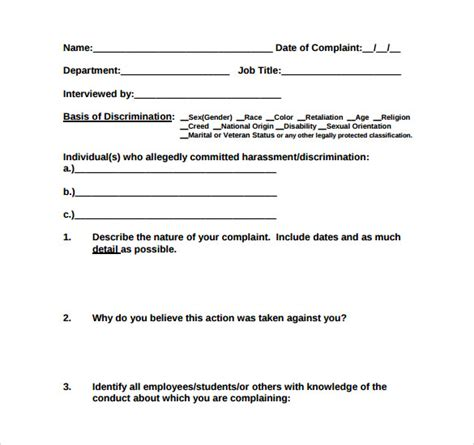 Sexual harassment complaint form template formbuilder jpg 585x550
