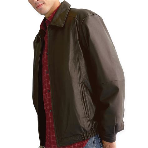 Perry ellis open bottom leather jacket with lining coats jpg 2000x2000